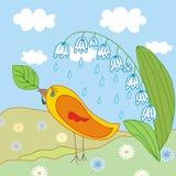 Scene with bird Stock Images