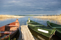 Scene with boats Royalty Free Stock Photo