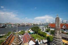 Scene of Chao phraya river royalty free stock image