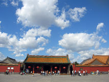 Scene of china. Ancient palace under sunny sky royalty free stock images