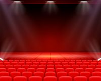 Scene cinema background art, Performance on stage. vector illustration