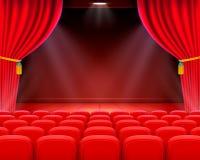 Scene cinema background art, Performance on stage. Scene cinema background art, Performance on stage . Vector illustration Royalty Free Stock Photos