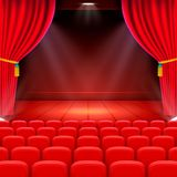 Scene cinema background art, Performance on stage. Scene cinema background art, Performance on stage . Vector illustration Royalty Free Stock Images