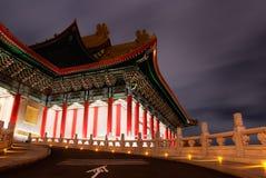 Scene cinesi di notte della costruzione tradizionale Immagine Stock