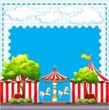 Scene from the circus at daytime Royalty Free Stock Images