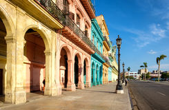 Scene with colorful buildings in downtown Havana Stock Photo