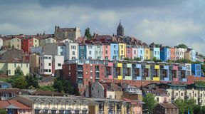 Colourful Houses, Bristol Harbourside, England royalty free stock images