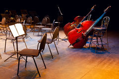 Scene of a concert hall. Before performance Royalty Free Stock Photo