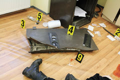 The scene of the crime. The scene of the crime mafia Stock Photo