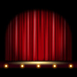 Scene with Curtain Stock Photo