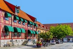 Scene dal mercato principale (Stortorget) immagini stock libere da diritti