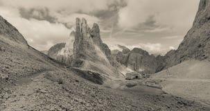 Scene dall'area di Catinaccio, dolomia della montagna Fotografie Stock Libere da Diritti