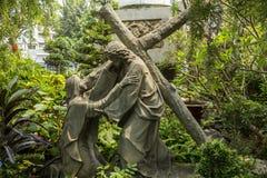 Scene dalla crocifissione di Gesù Immagine Stock