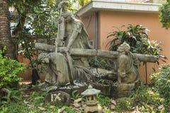 Scene dalla crocifissione di Gesù Immagini Stock Libere da Diritti