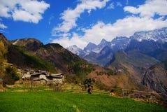 Scene della campagna, Yunnan, Cina Fotografie Stock Libere da Diritti
