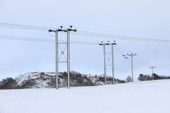 Scene della neve Immagini Stock Libere da Diritti