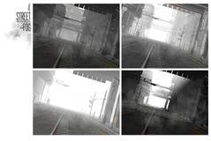 scene della via 3D Fotografia Stock Libera da Diritti