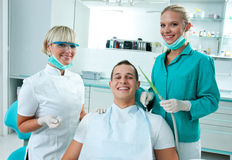Scene in dentist office Royalty Free Stock Photos