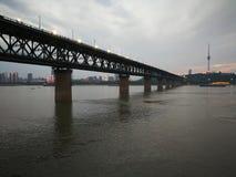 Scene di notte del changjiang del fiume Chang Jiang Immagini Stock Libere da Diritti
