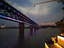Scene di notte del changjiang del fiume Chang Jiang Immagini Stock