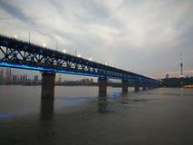 Scene di notte del changjiang del fiume Chang Jiang Fotografia Stock Libera da Diritti