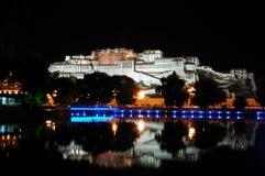 Scene di notte del palazzo di Potala Fotografia Stock