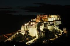 Scene di notte del palazzo di Potala Immagine Stock Libera da Diritti