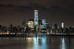 Scene di notte di WTC Immagine Stock