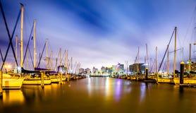 Scene di notte intorno a Corpus Christi il Texas immagini stock