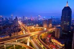 Scene di notte a Qingdao Fotografie Stock