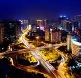 Scene di notte a Qingdao Fotografia Stock