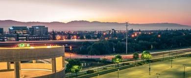 Scene di primo mattino al airpor dell'internazionale di San Jose California Fotografie Stock