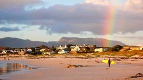 Scene di viaggio di festa della spiaggia a Cape Town fotografia stock