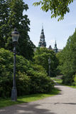 Scene of Djurgarden park and Nordic Museum in summer, Stockholm Stock Photo