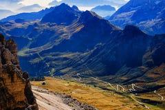 Pass Pordoi Sass Pordoi, Italy Royalty Free Stock Images