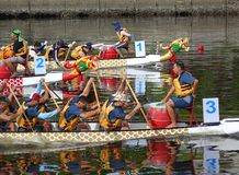 Scene from the 2015 Dragon Boat Races in Taiwan Stock Photo
