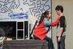 Scene of a drama. A drama performed in Jiangxi Art Center Royalty Free Stock Image