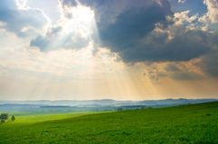 Scene with dramatic sky Royalty Free Stock Photography