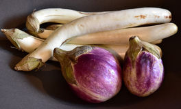Scene of the eggplant. Of the table Royalty Free Stock Photos