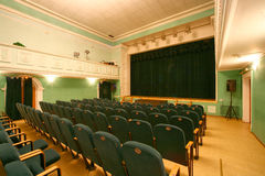 Scene. Empty auditorium with green  seats Stock Photography