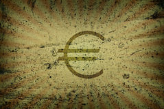 Scene of the euro. Old-time scene of the euro Royalty Free Stock Photography