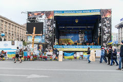 Scene. Euromaidan, Kyiv after protest 10.04.2014 Stock Image