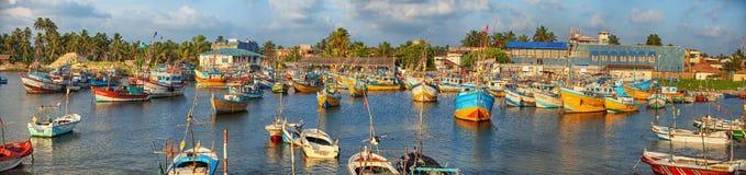 Scene of the fishing port Royalty Free Stock Photo