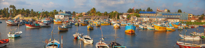 Scene of the fishing port Royalty Free Stock Images