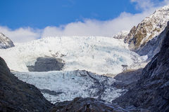 Scene of franz josef glacier important natural traveling destination in south island new zealand royalty free stock photo