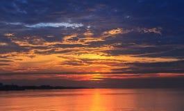 Scene of golden hour sky before sunrise Stock Image