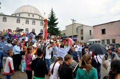 Scene from Gorani weddings in Albania Royalty Free Stock Photography
