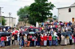 Scene from Gorani weddings, Shishtavec, Albania Stock Photo