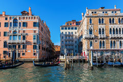 Scene at the Grand Canal in Venice, Italy Stock Photos