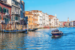 Scene at the Grand Canal in Venice, Italy Royalty Free Stock Photo